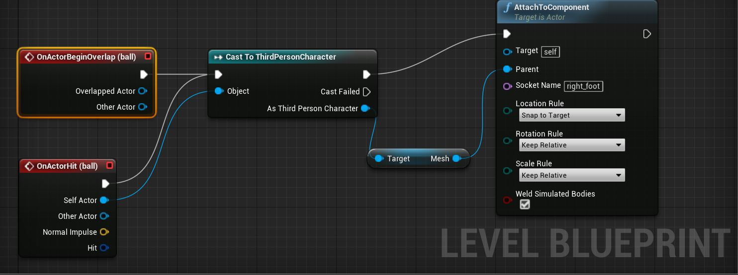 ue4 blueprint how to manually attach component