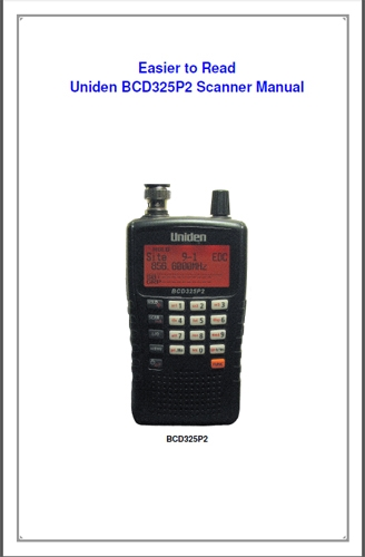 uniden bcd396xt easy to read manual